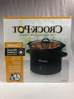 Crock-Pot 3.0-Quart Slow Cooker, Manual SCR300-MASTER