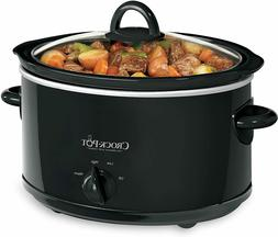 Crock-Pot 4-Quart Manual  Oval Slow Cooker, Black