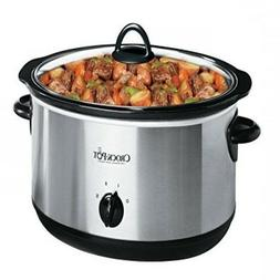 Crock-pot 5 Qt Manual Slow Cooker Stainless Steel by Classic