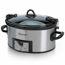 Carry Programmable Slow Cooker SCCPVL610-S-A with Digital Ti