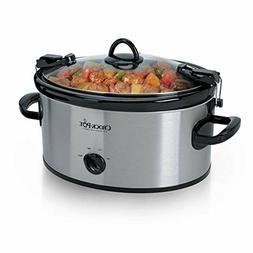 Crock-Pot 6-Quart Cook Carry Manual Portable Slow Cooker, St