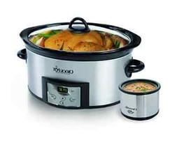 Crock Pot 6 Quart Large Countdown Slow Cooker with Little Di