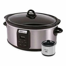 Crock-Pot 6-Quart Programmable Slow Cooker with Little Dippe