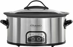 Crock-Pot - 6qt Slow Cooker - Stainless Steel