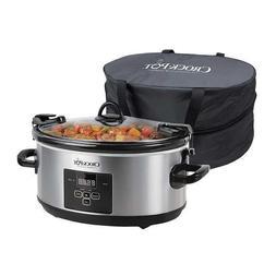 Crock-Pot 7-quart Cook & Carry Digital Countdown Slow Cooker