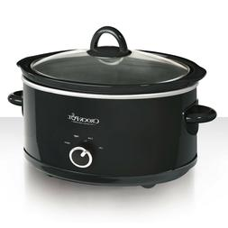 Crock-Pot 7 Quart Manual Slow Cooker, Black