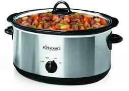 Crock-Pot 7-Quart Oval Stainless Steel Slow Cooker,