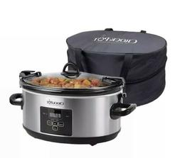 Crock-Pot 7Quart Programmable Cook & Carry Extra Large Slow