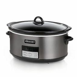 Crock-Pot 8 Qt Kitchen Stoneware Vessel Stainless Steel Prog