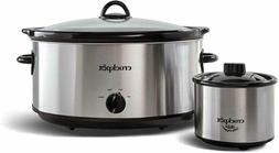 Crock-Pot 8 quart Manual Slow Cooker with 16 oz Little Dippe