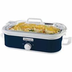 Crock-Pot Casserole Crock 3.5 Qt. Navy Blue Slow Cooker 2139
