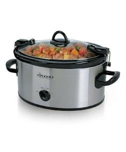 Crock-Pot Cook amp; Carry 6-Quart Oval Portable Manual Slow