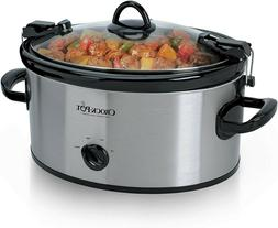 Crock Pot Cook & Carry 6-Quart Oval Portable Manual Slow Coo