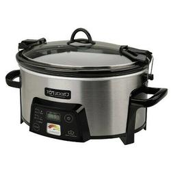 Crock-Pot Cook and Carry Slow Cooker with Heatsaver Stonewar
