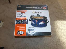 Crock-Pot Denver Broncos NFL 6-Quart Cook & Carry Slow Cooke