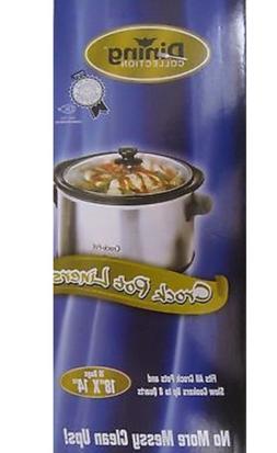 """Crock-pot Liners slow cooker Liners  40CT 18""""x14'"""" 4qt - 8qt"""