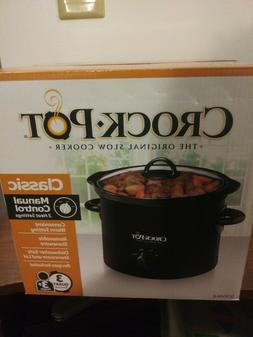 Crock-Pot Manual Slow Cooker, 3 Quart  NIB