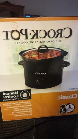crock pot manual slow cooker 3 quart