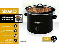 Crock-Pot Manual Slow Cooker, Stainless Steel, 2-quart cook,