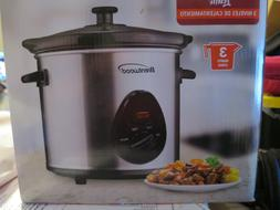 Crock Pot NEW Brentwood SC-130S 3 Quart Slow Cooker,Stainles