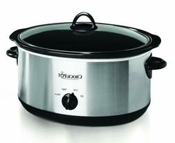 Crock-pot Oval Manual Slow Cooker, 8 quart,Stainless Steel ,
