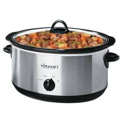 Crock-Pot Oval Manual Slow Cooker, Stainless Steel, 8-quart