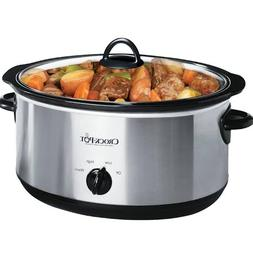 Crock-Pot Oval Manual Slow Cooker, Stainless Steel - 8 qt