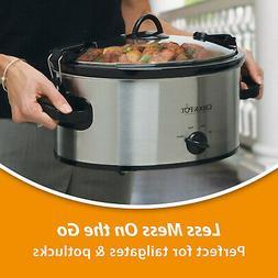 CROCK-POT Portable Cook and Carry 6-Quart Oval Manual Slow C