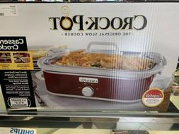 Crock-Pot Red Casserole Crock Slow Cooker 3.5 Quart 9x13""