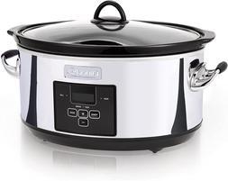 Crock-Pot Sccpvf710-P Slow Cooker 7 Quart Polished
