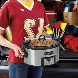 Crock-Pot SCCPVL610-S Programmable Cook and Carry Oval Slow