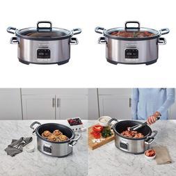 Crock Pot Sccpvmc63 Sj 3 In 1 Multi Cooker Stainless Steel B