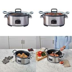 Crock Pot Sccpvmc63 Sj 3 In 1 Multi Cooker Stainless Steel B