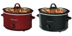 Crock-Pot SCV400 4-Quart Oval Manual Slow Cooker, 2 Colors