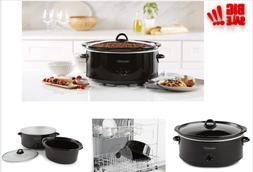 Crock-Pot SCV800-B, 8-Quart Oval Manual Slow Cooker, Black,