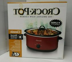 Crock-Pot SCV800-R 8-Quart Manual Slow Cooker Red   NEW