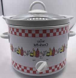 Rival Crock Pot Slow Cooker 2 Qt Red Plaid Check Vintage Pic