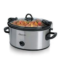 Crock Pot Slow Cooker 6 Quart Lunch Food Warmer Stainless St