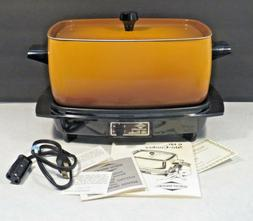 WEST BEND Crock Pot Slow Cooker 6 Quart VINTAGE 5275 WORKS N