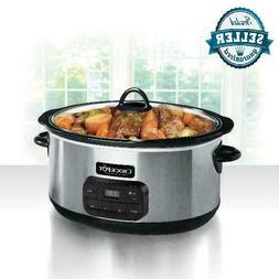 crock pot slow cooker 8 quart digital