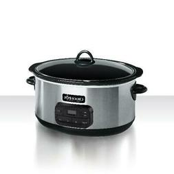 Slow Cooker Pot Programmable Digital Timer 8-Quart Oval Shap