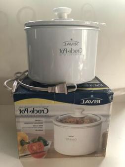 Crock Pot Slow Cooker Dip Master 1-1/2 Qt. Glass Lid, Stonew