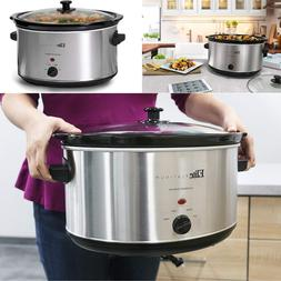 Crock-Pot Slow Cooker Large Oval 8.5 Quart Stainless Steel M