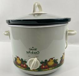 Rival Crock Pot Slow Cooker Model SCR300 Pear Strawberries a