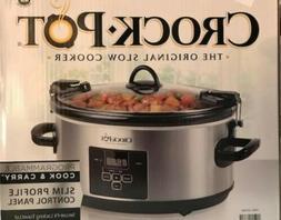 Crock-Pot Slow Cooker Programmable Cook and Carry Slim Profi