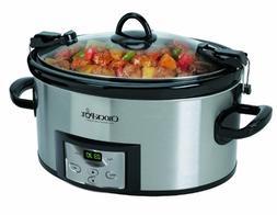 Premium Crock Pot Slow Cooker Programmable Crockpot 6 Quart