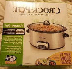 Crock-Pot - Smart-Pot - 4 Qt Slow Cooker - Stainless Steel O