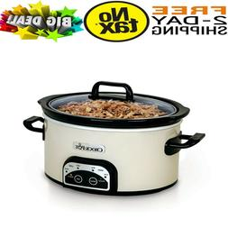 Crock Pot Smart Pot Digital Slow Cooker Eggshell SCCPVP400-P