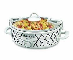 Crockpot 2.5-Quart Mini Casserole Crock Slow Cooker, White/B