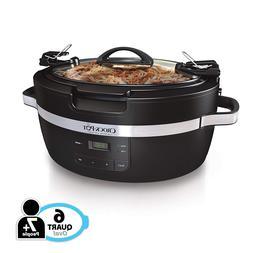 Crockpot SCCPCT600-B Thermoshield Slow Cooker, 6 Quart, Blac